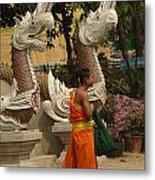 Buddhist Monk Thailand 3 Metal Print
