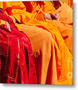 Buddhist Monks 04 Metal Print by Rick Piper Photography