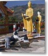 Buddhist Statues Metal Print