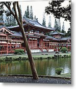 Buddhist Temple, Byodo-in Temple Metal Print
