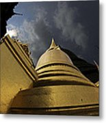 Buddhist Temple In Bangkok Thailand Buddhism  Metal Print