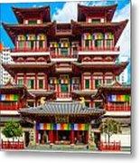 Buddhist Temple In Singapore Metal Print