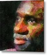 Buddy In Thought Metal Print