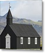 Budir Church Stadarsveit, Snaefellsnes Metal Print