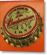 Budweiser Cap Metal Print by Tony Rubino
