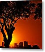 Buenos Aires At Sunset Metal Print