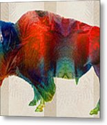 Buffalo Animal Print - Wild Bill - By Sharon Cummings Metal Print