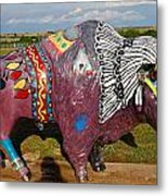 Buffalo Artwork Metal Print