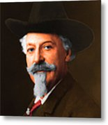 Buffalo Bill Cody 20130516 Square Metal Print by Wingsdomain Art and Photography