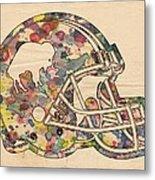 Buffalo Bills Vintage Art Metal Print