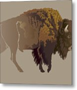 Buffalo. Hand-drawn Illustration Metal Print