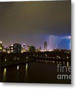 Buffalo Lightning Metal Print