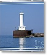 Buffalo New York Outer Breakwater Lighthouse Metal Print