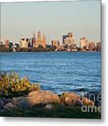 Buffalo Skyline From Fort Erie Metal Print