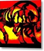 Buffalo Sun Set Metal Print