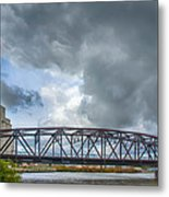 Buffalo's Ohio Street Bridge Metal Print
