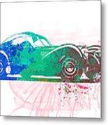 Bugatti Atlantic Watercolor 1 Metal Print