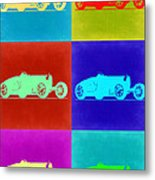 Bugatti Type 35 R Pop Art 2 Metal Print by Naxart Studio