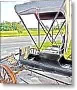 Buggy By The Road Metal Print