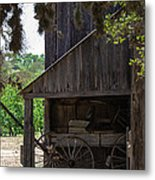 Buggy In The Barn Metal Print