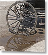Buggy Wheels Metal Print