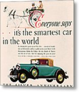 Buick 1928 1920s Usa Cc Cars Horses Metal Print by The Advertising Archives