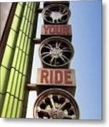 Build Your Ride Signage Downtown Disneyland 01 Metal Print
