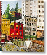 Building A City By Stan Bialick Metal Print