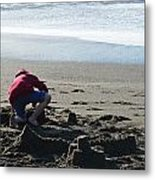 Building A Sand Castle  Metal Print