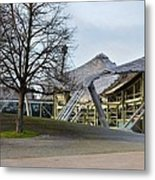 Building At Olympic Village Munich Germany Metal Print