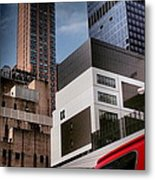 Tribute To Leger 3 - Building Blocks - Architecture Of New York City Metal Print