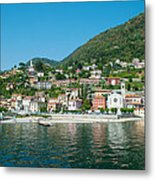 Building In A Town At The Waterfront Metal Print