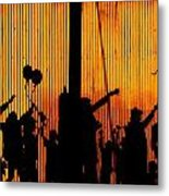 Building Silhouettes In Color Metal Print