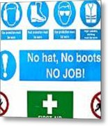 Building Site Safety Metal Print by Tom Gowanlock