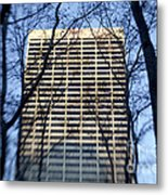 Building Through Trees Metal Print by Tony Cordoza