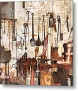 Building Trades - Hand Tools In Machine Shop Metal Print
