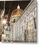 Buildings And Florence Cathedral Metal Print by Alexander Macfarlane