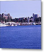 Buildings At The Waterfront, Inner Metal Print
