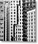 Buildings Bw Metal Print