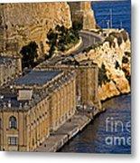 Buildings By The Mediterranean Sea Metal Print