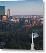 Buildings In A City, Boston Common Metal Print