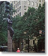 Buildings In A City, Trade And Tryon Metal Print