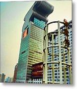 Buildings In Shanghai Metal Print