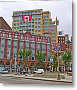 Buildings Near War Memoriall In Ottawa-on Metal Print