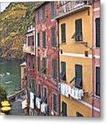 Buildings Of Vernazza Metal Print