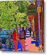 Buk And Nola Gift Shop Decor Boutique Rue Laurier Art Of Montreal Street Scene Carole Spandau Metal Print
