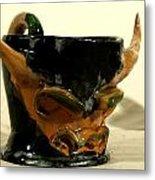 Bull Cup Metal Print