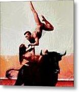 Bull Dancers Metal Print