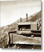 Bull Dozer Road Construction On Highway One Big Sur Circa 1930 Metal Print