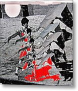 Bull Fight Matador Charging Bull Us Mexico Border Town Nogales Sonora Mexico Collage 1978-2012 Metal Print